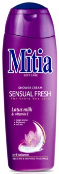 Tomil, s.r.o. Mitia Shower Cream Sensual Fresh Lotus milk sprchový gél 400ml