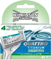 Wilkinson   Wilkinson Sword Quattro Titanium Sensitive 4 ks
