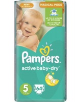 Procter & Gamble  PAMPERS Active Baby Dry 5 Junior 11-18 kg 64ks