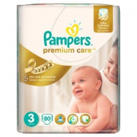Procter & Gamble  Pampers  Premium Care Jumbo pack 3 Midi  4-9kg  80ks